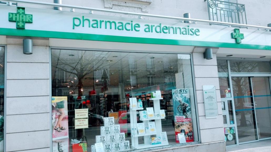 Vitrine de la Pharmacie Ardennaise